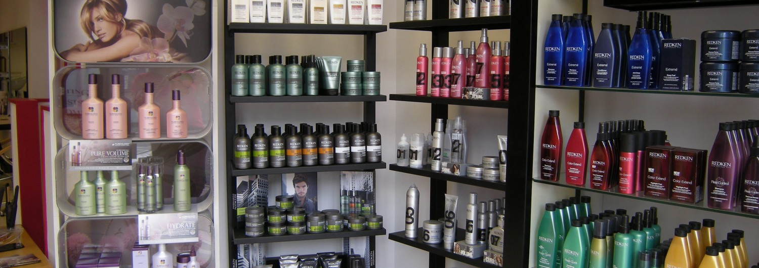 Products at the Amnesia Hair Salon